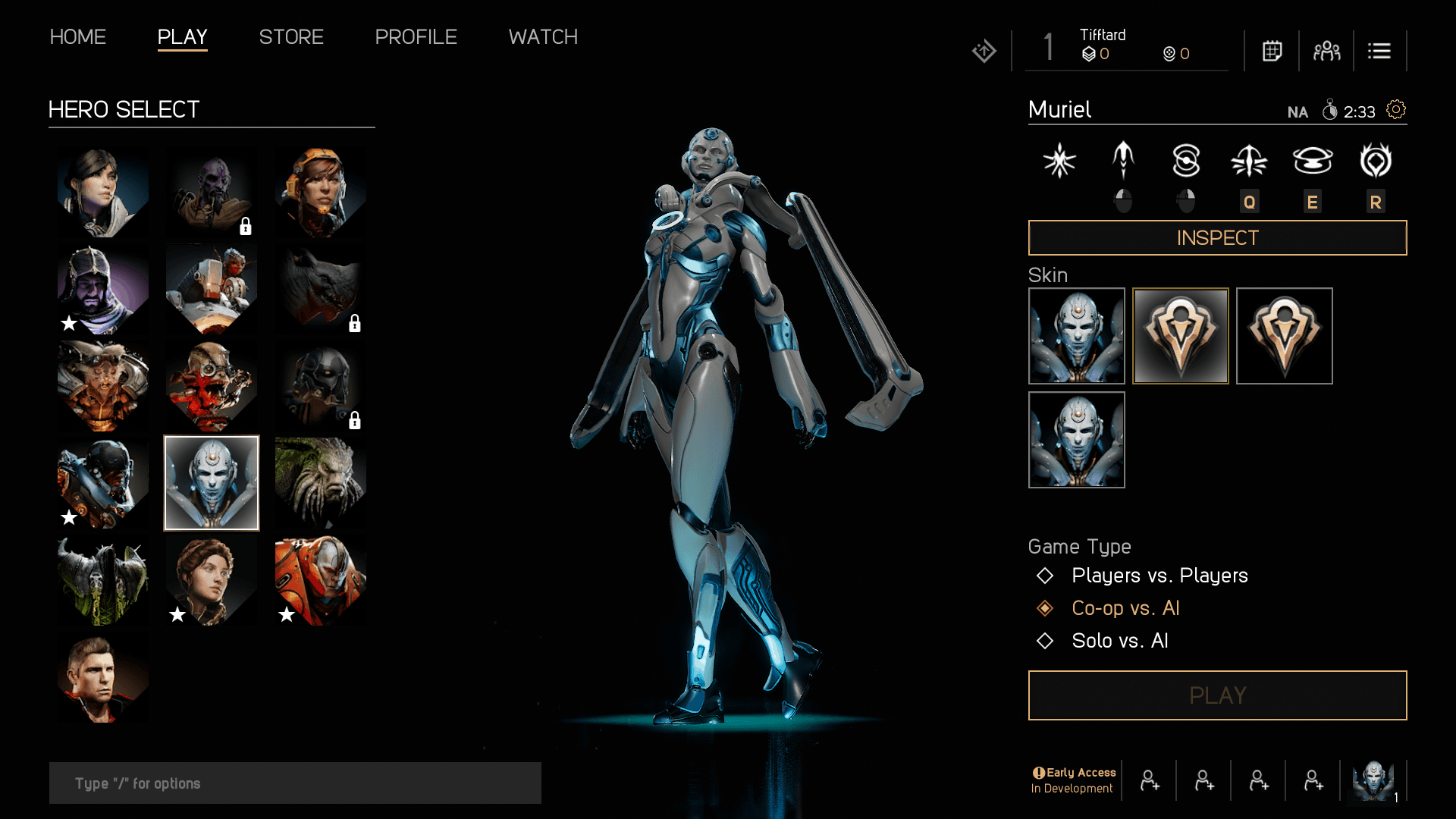 One of the unique Heroes in Paragon