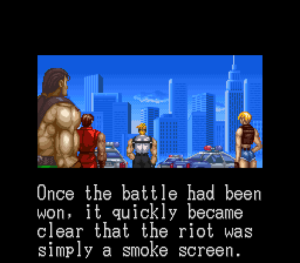 The cut scenes actually add to the story of Final Fight 3. Image courtesy of Giant Bomb user 234r2we232.