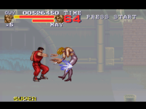 An example of the super moves found in Final Fight 3. Image courtesy of Giant Bomb user kou_leifou.